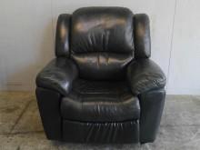 [9成新] 【二手家具】黑色單人皮質沙發單人沙發無破損有使用痕跡