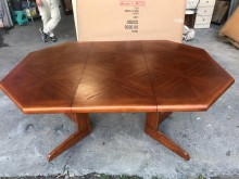 [95成新] 大慶二手家具NG庫存品木紋色餐桌餐桌近乎全新