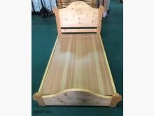 09037108原木色床架單人床架無破損有使用痕跡