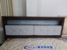 [95成新] 門市出清5尺胡桃皮墊床頭片雙人床架近乎全新