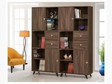 [全新] 吉姆 胡桃色5.3尺推門多用途櫃書櫃/書架全新