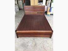 大慶二手家具5X6呎標準胡桃床架雙人床架無破損有使用痕跡