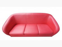 [9成新] A91801*紅色3人皮沙發*雙人沙發無破損有使用痕跡