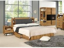[全新] 2004055-2摩德納5尺床雙人床架全新