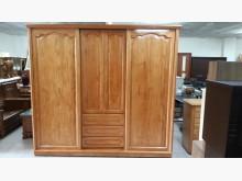[9成新] 九成新原木實木8尺大衣櫃衣櫃/衣櫥無破損有使用痕跡