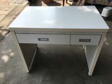 大慶二手家具NG庫存純白兩抽書桌書桌/椅近乎全新