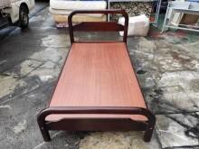 非凡胡桃實木粗骨3.5尺單人床架單人床架無破損有使用痕跡