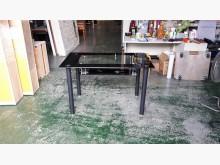 合運二手傢俱黑色玻璃餐桌2520餐桌有輕微破損