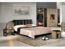 [全新] 2004071-2格雷森5尺床雙人床架全新
