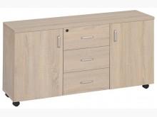 [全新] 白橡木色4尺側邊櫃$4300辦公櫥櫃全新