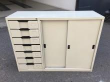非凡二手家具 四尺左七抽文件櫃辦公櫥櫃無破損有使用痕跡
