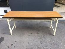 2*6木紋折合會議桌電腦桌/椅無破損有使用痕跡