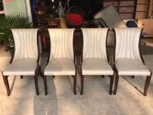 大慶二手家具 白色歐式餐椅餐椅無破損有使用痕跡