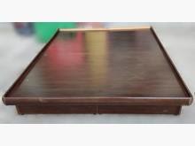 B101901*胡桃色5尺掀床雙人床架無破損有使用痕跡