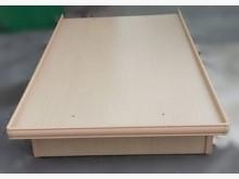 B101903*白橡色3.5尺雙人床架無破損有使用痕跡