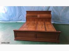 10061108柚木色床架雙人床架無破損有使用痕跡