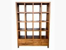 [全新] 全新柚木16格4抽屜書櫃實木書架書櫃/書架全新