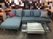 [95成新] NG庫存天空藍L型布沙發(含抱枕L型沙發近乎全新