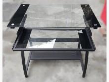 [9成新] E110405*玻璃電腦桌辦公桌無破損有使用痕跡