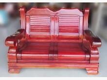 [9成新] A110703*紅木色實木沙發木製沙發無破損有使用痕跡