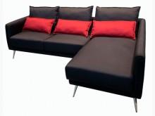 [全新] LA1101Di*全新黑紅L型布L型沙發全新