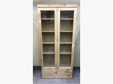 [全新] 全新兩門書櫃/玻璃書櫃/雙門書櫃書櫃/書架全新