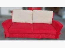 [9成新] A111001*紅色雙人布沙發雙人沙發無破損有使用痕跡