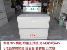C31453 KEY 公文櫃辦公櫥櫃有輕微破損