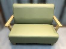 [全新] 全新綠色雙人皮沙發雙人沙發全新