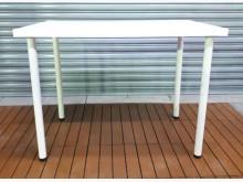 [8成新] *E1119HJJ白色書桌*餐桌有輕微破損