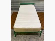 [8成新] 綠色3尺床組+床墊單人床墊有輕微破損