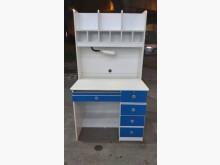 E111417*藍白色兒童書桌書桌/椅無破損有使用痕跡