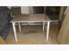 [95成新] 九五成新實木桌面鐵座餐桌餐桌近乎全新