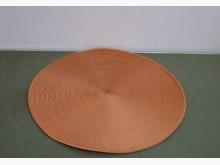 圓形漩渦編織墊裝飾置物墊涼墊S地毯/墊子全新