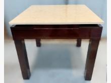 [7成新及以下] E111603胡桃大理石伸縮餐桌餐桌有明顯破損