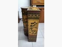 [9成新] 大陸早期老件實木手工彩繪置物櫃櫥/櫃無破損有使用痕跡