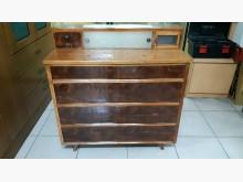 [9成新] 早期老件檜木實木四抽櫃櫥/櫃無破損有使用痕跡