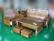 [全新] 全新櫸木多功收納L型沙發木製沙發全新