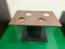 [7成新及以下] E120202*長方4孔火鍋桌*其它桌椅有明顯破損