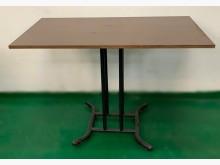 E120209*胡桃小餐桌 *餐桌有明顯破損