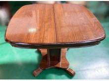 [7成新及以下] E121003*實木蝴蝶餐桌餐桌有明顯破損