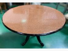 [7成新及以下] E121005*黑腳可變形圓餐桌餐桌有明顯破損