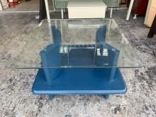 [8成新] 香榭二手家具*玻璃方形小茶几茶几有輕微破損