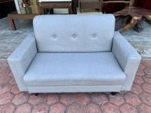 [全新] 全新極簡灰色貓抓皮 二人座沙發椅雙人沙發全新