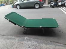 連欣二手傢俱-折疊帆布床/墨綠單人床架無破損有使用痕跡