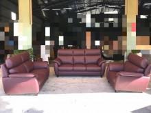 [全新] 豬肝紅巴洛克獨立筒3+2+1沙發多件沙發組全新