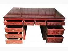 [8成新] RW122301紅木10抽主桌辦公桌有輕微破損