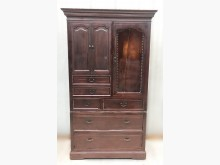 [7成新及以下] LG121601*原木檜木衣櫃*衣櫃/衣櫥有明顯破損