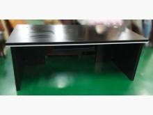 [8成新] E122313*黑色主管桌*辦公桌有輕微破損