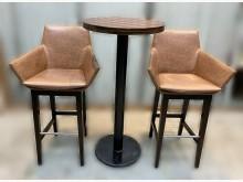 [8成新] E122308工業風高腳桌椅組其它桌椅有輕微破損